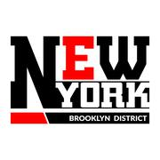 T shirt typography New York Brooklyn Stock Illustration