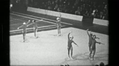 1967: Soviet Union team hula hoop (part 2 of 2) competition 3rd Women's Modern - stock footage