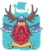 Viking Portrait - stock illustration