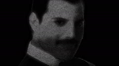 Freddie Mercury Animation Stock Footage