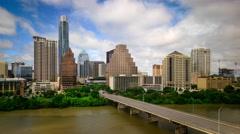 Austin, Texas Downtown Skyline Time Lapse Stock Footage