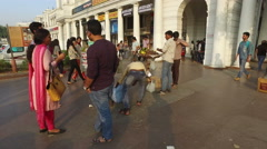 Connaught Place - New Delhi, India Stock Footage