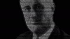 Franklin Delano Roosevelt President Animation Stock Footage