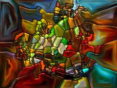 Vivid Stained Glass - stock illustration