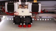 3D printer printing three-dimensional figure - stock footage