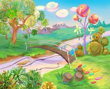 Fairy Tale Dreamland - stock illustration