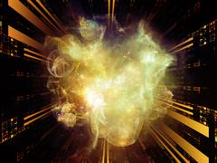 Quickening of Abstract Visualization - stock illustration