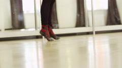 beautiful girl wearing ballet leotard - stock footage