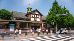 Harajuku Station Tokyo Stock Footage