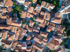 Aerial View of Old Budva in Montenegro - stock photo