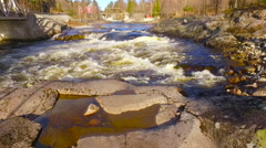 Flights over Norway river slow motion Stock Footage