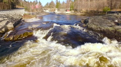 Flights over Norway rough river Stock Footage