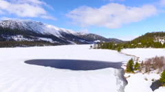 Flights over Norway snowy mountains landscape Stock Footage