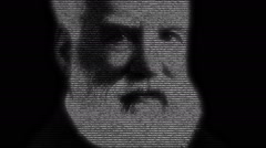 Alexander Graham Bell Portrait Animation Stock Footage