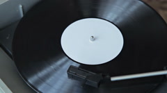 Vintage record player with vinyl record - stock footage