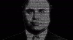 Al Capone Gangster Face Animation Stock Footage