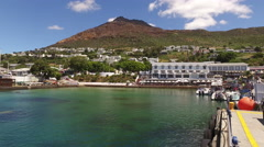 Simons Town waterfront and harbour, South Africa Stock Footage