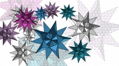 Geometric abstraction with beautiful stars on a white background Stock Footage