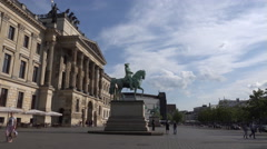 4k Braunschweig central city place timelapse with equestrian statues Stock Footage