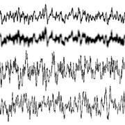 Black music sound waves. EPS 10 - stock illustration