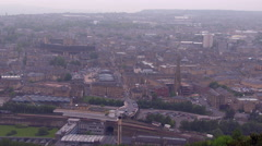 Halifax Town Centre Beacon Hill View Stock Footage