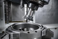 Metalworking CNC milling machine. - stock photo