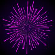 Star blast rays - stock illustration