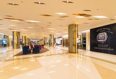 hall in Siam Paragon mall, Bangkok - stock photo
