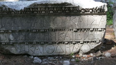 The ancient inscriptions of the Ottoman Empire, Phaselis - stock footage