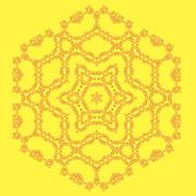 Round Geometric Ornament Isolated - stock illustration