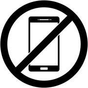 No phone, telephone prohibited symbol. Vector. Piirros