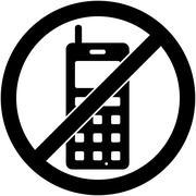 No phone, telephone prohibited symbol. Vector. Stock Illustration