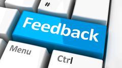 Computer keyboard feedback Stock Illustration