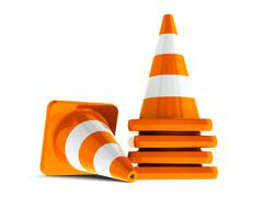 Traffic cones #2 Stock Illustration