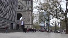 Emperor Wilhelm Memorial Church, Berlin, Germany  Stock Footage