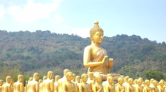 Golden Buddha lot Stock Footage