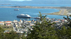 View of Ushuaia, Tierra del Fuego, Argentina Stock Footage