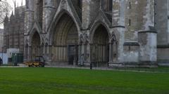 Westminster Abbey in London, uk Stock Footage