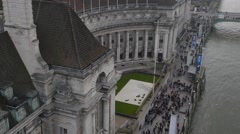 Aerial view on county hall now hotel england uk europe Stock Footage