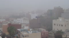 Agadir in fog, morocoo Stock Footage