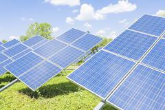 Green energy.Solar panel. Stock Photos