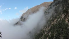 Fog in the mountains Stock Footage