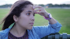 Sad Young Woman Close - stock footage