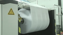 Idustrial large scale printing machine Stock Footage