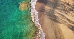 Tropical White Sand Beach Stock Footage