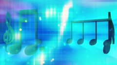 Music backgrounds loop multi color Stock Footage