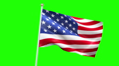American USA flag waving, stars and stripes, united states of america Stock Footage