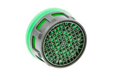 Isolated plastic faucet aerator - stock photo