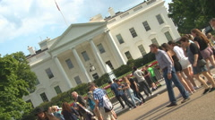 Dutch angle shot of the White House in Washington, D.C. Stock Footage