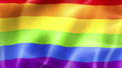 Waving colorful of gay pride rainbow flag, civil right flag seamless looping Stock Footage